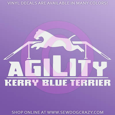 Kerry Blue Terrier Agility Sticker