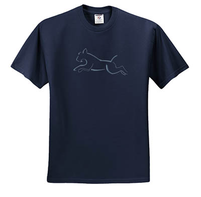 Embroidered Kerry Blue Terrier Agility Tshirts