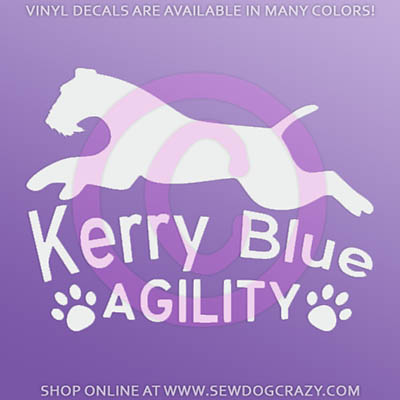 Kerry Blue Terrier Agility Stickers