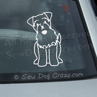 Cartoon Kerry Blue Terrier Car Window Stickers