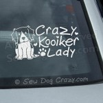 Kooikerhondje car window stickers
