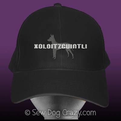 Embroidered Xoloitzcuintli hat