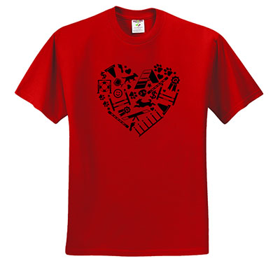 I Love Dog Agility Tshirt