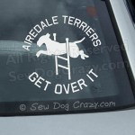 Airedale Terrier Agility Car Window Sticker