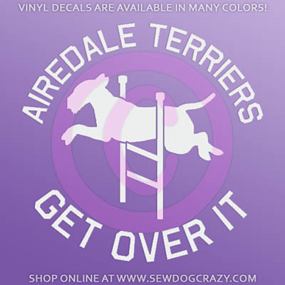 Airedale Terrier Agility Decal