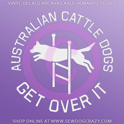 Cattle Dog Agility Car Decal