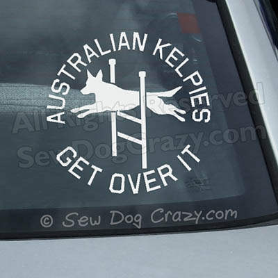 Agility Kelpie Car Window Sticker