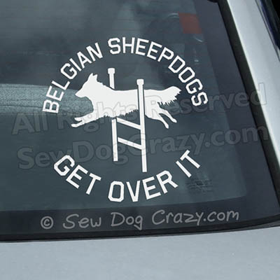 Belgian Sheepdog Agility Car Decal
