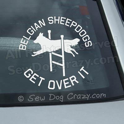 Belgian Sheepdog Agility Car Decal