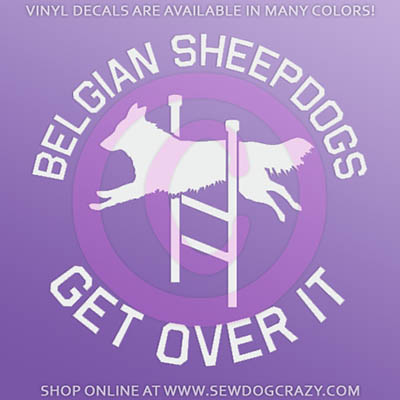 Belgian Sheepdog Agility Car Window Sticker