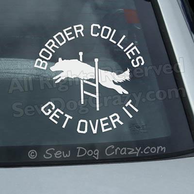 Border Collie Agility Car Window Sticker