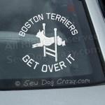 Agility Boston Terrier Car Window Sticker