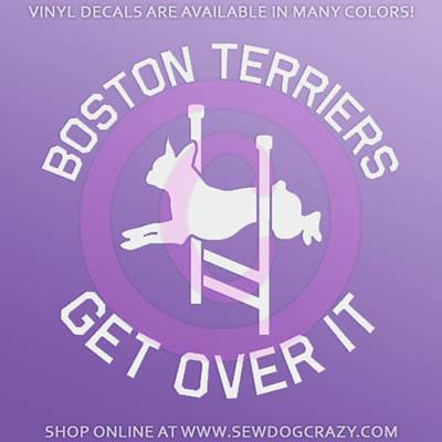 Agility Boston Terrier Decal