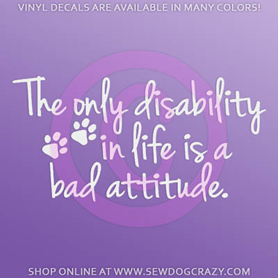 Disabled Dog Car Stickers