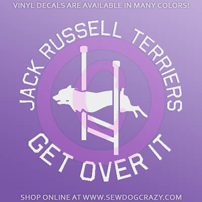 Jack Russell Terrier Agility Car Decal