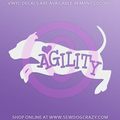 Love Agility Pit Bull Decal