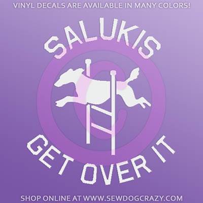 Saluki Agility Car Window Sticker