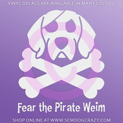 Pirate Weimaraner Decal