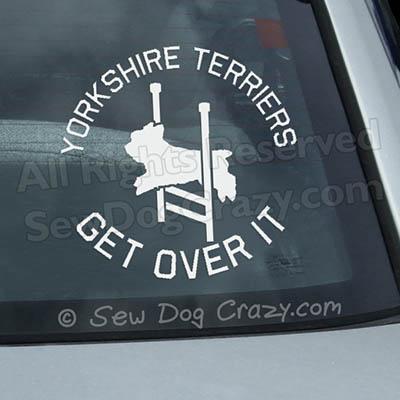 Yorkie Agility Car Window Sticker
