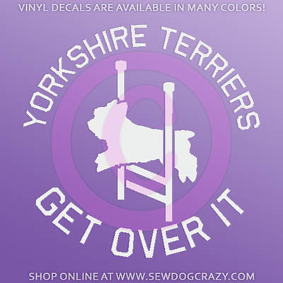 Yorkie Agility Car Decal