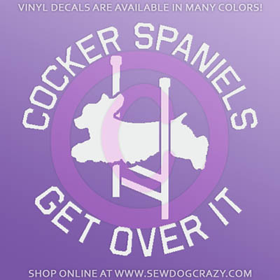 Cocker Spaniel Agility Car Sticker