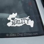 Agility Cocker Spaniel Car Window Sticker