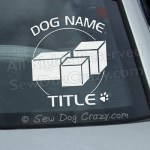 Personalized Nose Work Car Stickers