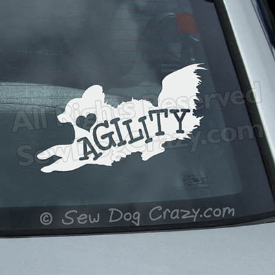 Papillon Agility Car Window Sticker