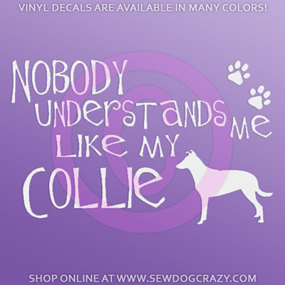 Funny Smooth Collie Window Sticker