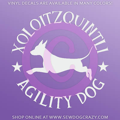 Xolo Agility Window Stickers