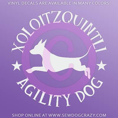Xolo Agility Window Stickers