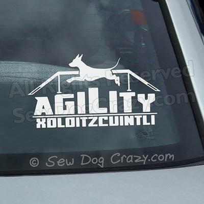 Xoloitzcuintli Agility Decals
