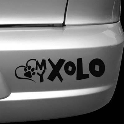 Love My Xolo Car Decal