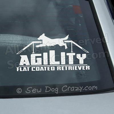 Agility Flat Coated Retriever Decal