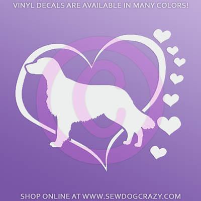 Love Flat Coated Retrievers Car Sticker