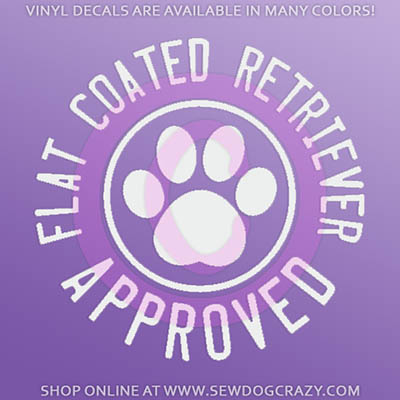Flat Coated Retriever Approved Car Sticker
