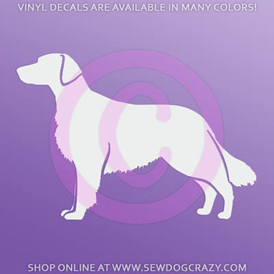 Flat Coated Retriever Silhouette Decals