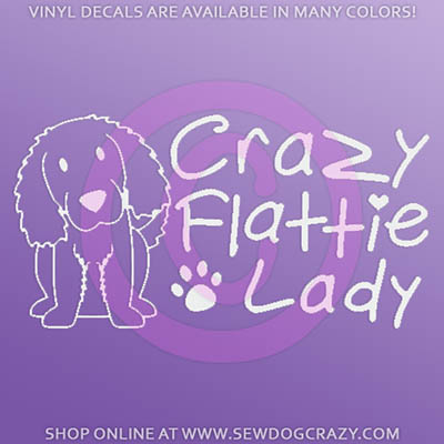 Crazy Flat Coated Retriever Decal