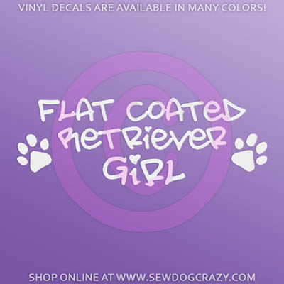 Flat Coated Retriever Girl Sticker
