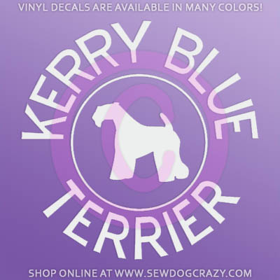 Kerry Blue Terrier Decals