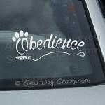 Obedience Car Window Sticker