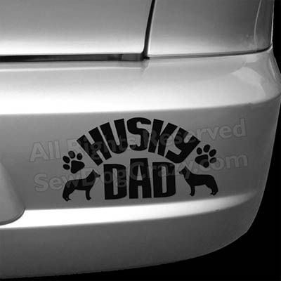 Siberian Husky Dad Bumper Stickers