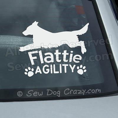 Flat Coated Retriever Agility Car Sticker