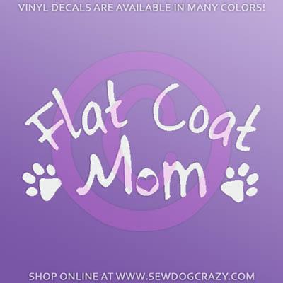 Flat Coat Mom Car Window Decal