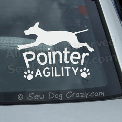 Pointer Agility Car Sticker