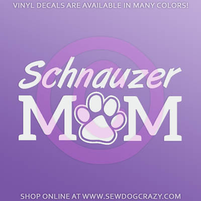 Schnauzer Mom Car Stickers