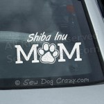 Shiba Inu Mom Car Window Sticker