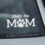 Shiba Inu Mom Car Window Sticker