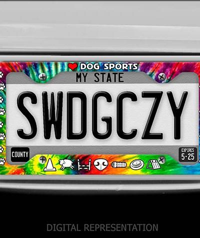 Love Dog Sports License Plate Frame