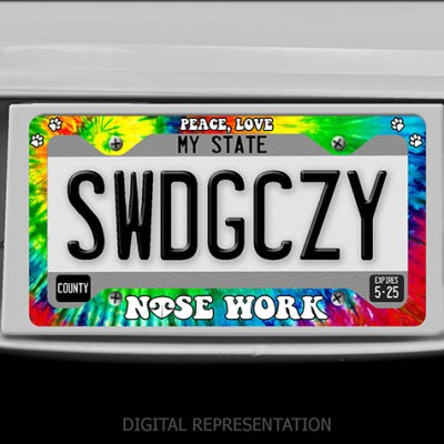 Nose Work License Plate Frame